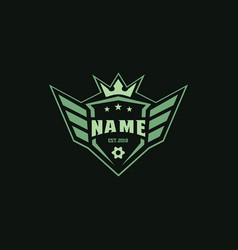 shields wings and crown badge logos for any sports vector image