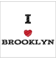 Slogan - I love Brooklyn eps vector image