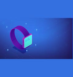 Smart watch interface isometric 3d vector