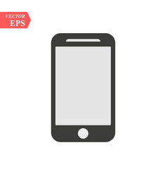 Smartphone icon in iphone style cellphone vector