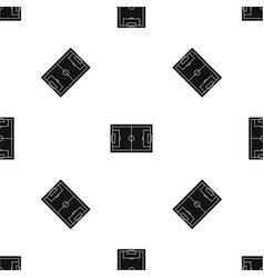 soccer field pattern seamless black vector image