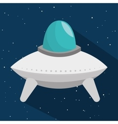 space craft toy isolated icon vector image