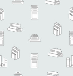 stack books flat design seamless pattern vector image