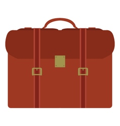 suitcase on white background vector image