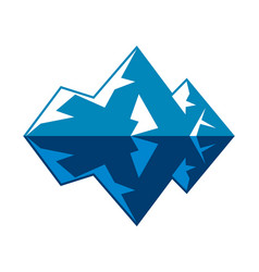 symbol arctic winter ice mountain iceberg vector image