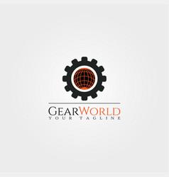 Tech world logo templatetechnology design vector