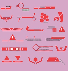 Technology red line modern vector image