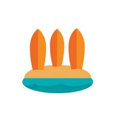 three surfboards beach australia icon on white vector image