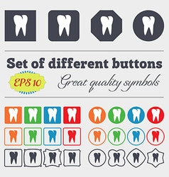 tooth icon Big set of colorful diverse vector image