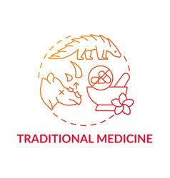 Traditional medicine red gradient concept icon vector
