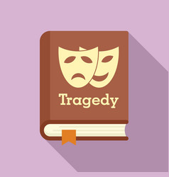 tragedy literary genre book icon flat style vector image