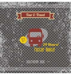 travel retro page vector image