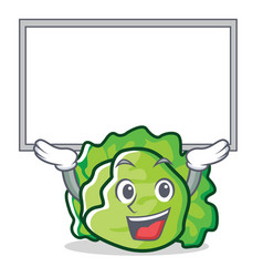 up board lettuce character cartoon style vector image
