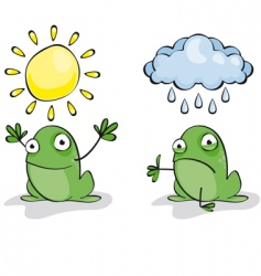 weather frog vector image