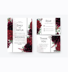 Wedding invite invitation card rsvp thank you card vector