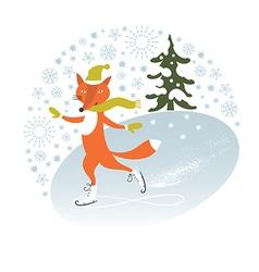 Winter holidays card vector