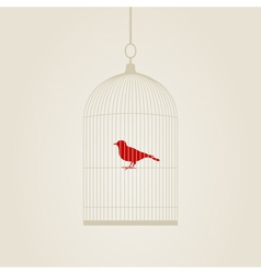 bird in a cage vector image vector image