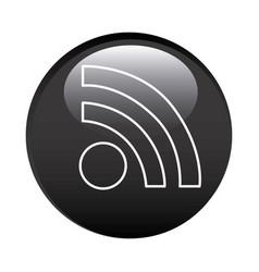 black circular frame with wifi icon vector image