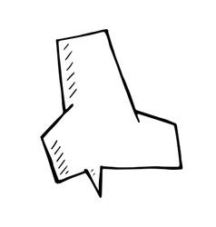 comic book speech bubble sign doodle vector image
