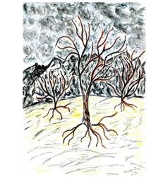 Dead tree sketch02 vector