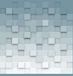 geometric background with 3d cubes vector image vector image