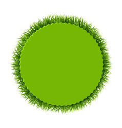 Label with grass vector