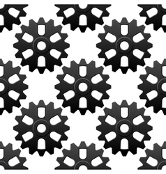 Mechanical sesamless pattern with cogwheels or vector image vector image