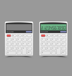 On off white calculator vector