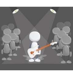 Rock player icon vector image