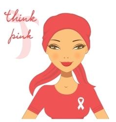 beautiful breast cancer awareness vector image