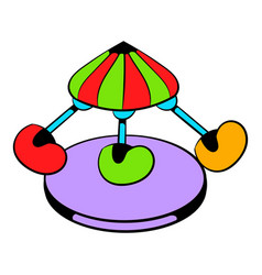 children carousel icon icon cartoon vector image vector image