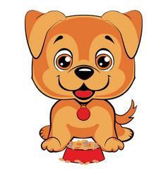 cute cartoon dog children s funny vector image vector image