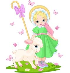Little shepherdess vector