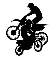Motocross Dirt Bikes Silhouette vector image
