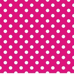 Tile pattern white polka dots pink background vector image