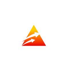 triangle arrow pyramid logo vector image vector image