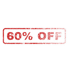 60 percent off rubber stamp vector image