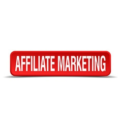 affiliate marketing red three-dimensional square vector image vector image