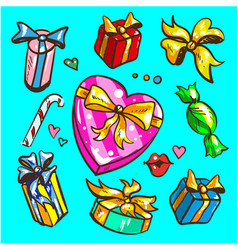 big presents collection of vector image
