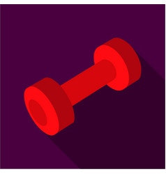 dumbbells icon flate single sport icon from the vector image vector image