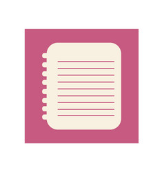 flat notebook icon education vector image vector image