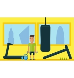 Healthy lifestyle Classes at the gym Flat style vector image