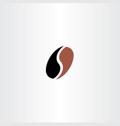 letter s coffee bean logo icon vector image vector image