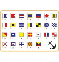 nautical flags vector image vector image
