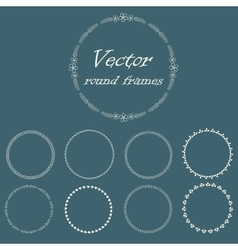 Round frame with decorative branch vector image