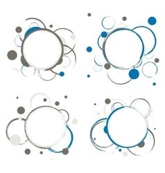 Set of Abstract Circles Badges vector image