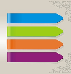 stick color brown vector image