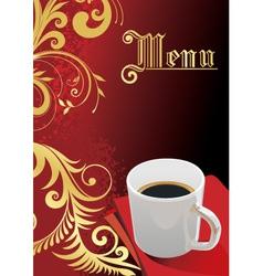 elegant coffee vector image vector image