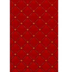 illustration of red leather background vector image vector image