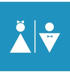 Male and female icon denoting toilet restroom vector image vector image
